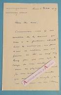 L.A.S 1919 Principauté De MONACO - Ministère D'Etat - Longue Lettre Autographe - Signataire à Identifier - LAS - Autographes