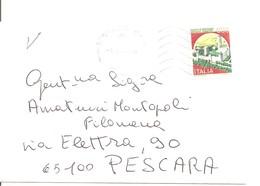 BUSTA  IN FORMATO PICCOLO CON LETTERA ALL'INTERNO - 6. 1946-.. Repubblica