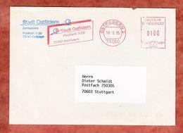 Brief, Francotyp-Postalia F68-4081, Stadt Ostfildern, 100 Pfg, 1995 (61583) - BRD