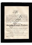 Doodsbrief Jacques Joseph Peeters °1824 Turnhout †1890 Mechelen / Curé/Pastoor Borgerhout (H4) - Décès