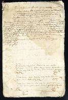 1655 Sous Louis XIV, Manuscrit 12 Pages écrites, à Déterminer - Manoscritti