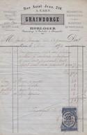 Caen  Graindorge  Horloger 210 Rue Saint Jean Bijouterie Facture ( Timbre Fiscal ) - Petits Métiers