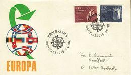 DENMARK  1982 EUROPA CEPT    FDC - Europa-CEPT