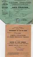 VP13.677 - Ville De CLERMOND FERRAND - Carte D'Electeur X 4 - Mr VINCENT à ORCINES - Collections