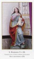 Roccaravindola (Isernia) - Santino SANTA BARBARA Vergine E Martire - PERFETTO P87 - Religione & Esoterismo