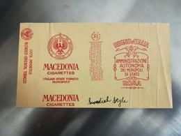 PACCHETTO SIGARETTE MACEDONIA PRODOTTO IN USA SU LICENZA MONOPOLIO ITALIANO 1936 - Schnupftabakdosen (leer)