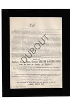Doodsbrief Adalbert Kervyn De Meerendré °1847 Zomergem †1914 / Vrederechter Zomergem (H6) - Décès