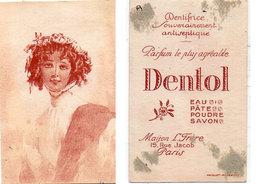 """Dentifrice - """"Dentol""""  Portrait De Femme .  (110648) - Publicités"""