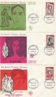 1301 à 1305 FDC Série 5 Comédiens - 1960-1969