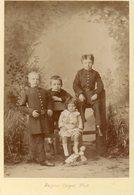 Photo Vers 1865 Enfants Avec Poupée Format 11x16 Cm Photo Eugène Carpot - Anciennes (Av. 1900)