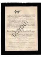 Doodsbrief Henri Joseph Marie Kervyn °1809 Gent  †1894 Mechelen Oud Burgemeester Merendree (H5) - Décès