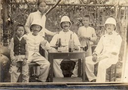 Photo Vers 1865 Cdv Cochinchine SAIGON Chine Enfants Et Militaires 11 X 8 Cm - Anciennes (Av. 1900)