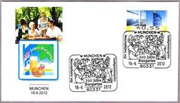 200 AÑOS FERIA DE LA CERVEZA - 200 JAHRE BIERGARTEN. Munchen 2012 - Bières