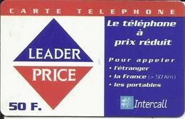 Télécarte 50 F. , Leader Price ,  N° FR-PRE-INT-0366C , N° Série: 0316 06571 041 - Per Cellulari (ricariche)