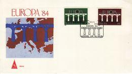 MALTA  EUROPA CEPT 1984 FDC - Europa-CEPT