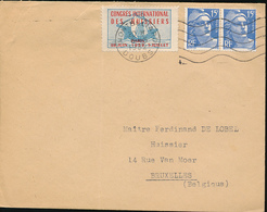 FRANCE 1952 VIGNETTE !!!! CONGRES INTERNATIONAL DES HUISIERS MONTBELIERD 1952 - France