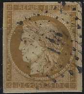 1849 - 1850 Céres N°1a 10c Bistre Brun Oblitéré PC 141 De Arthez (indice 13) Belles Marges TTB Signé Calves - 1849-1850 Ceres