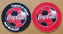 Coca Cola COASTER Football World Cup Slovenia - Sottobicchieri Di Birra