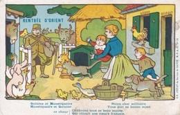 Carte Franchise Militaire Armée D'Orient. Rentrée D'Orient Illustrée Par Benjamin Rabier - Marcophilie (Lettres)