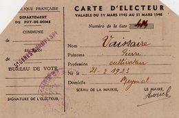 VP13.679 - SAINT GENES  - Carte D'Electeur - Mr VAISSAIRE à MEYNIAL - Collections