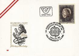 AUSTRIA 1985 EUROPA CEPT FDC - Europa-CEPT