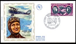 Helene Boucher Maryse Hilsz PA 47 Levallois Perret // Premier Jour FDC //  1 Enveloppe // 10 Juin 1972 - 1970-1979