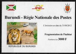 BURUNDI Epreuve Luxe N° 1603  * *    NON DENTELE  Fragmentation De L Habitat Lions - Francobolli