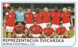 Card (no Sticker)  National Team Switzerland Swiss Brazil FIFA 2014 Bosnia Edition Football WC World Cup - Autres