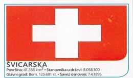 Card (no Sticker)  National Flag Switzerland Swiss Brazil FIFA 2014 Bosnia Edition Football WC World Cup - Autres