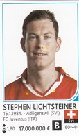 Card (no Sticker)  Stephen Lichtsteiner Switzerland Swiss Brazil FIFA 2014 Bosnia Edition Football WC World Cup - Vignettes Autocollantes