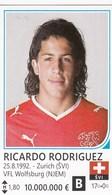 Card (no Sticker)  Ricardo Rodriguez Switzerland Swiss Brazil FIFA 2014 Bosnia Edition Football WC World Cup - Vignettes Autocollantes