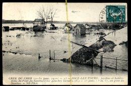 Joué Lez Tours: Crue Du Cher, Pont Du Sanitas Rive Gauche - France