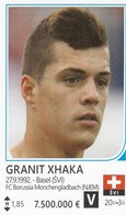 Card (no Sticker)  Granit Xhaka Switzerland Swiss Brazil FIFA 2014 Bosnia Edition Football WC World Cup - Vignettes Autocollantes