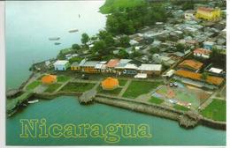 Vue Des Quais De San Carlos, Sur La Rivière San Juan, Carte Postale Adressée Andorra - Nicaragua