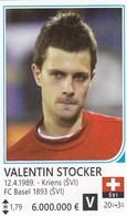 Card (no Sticker)  Valentin Stocker Switzerland Swiss Brazil FIFA 2014 Bosnia Edition Football WC World Cup - Vignettes Autocollantes