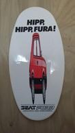 """Aufkleber (in """"Quetsch-Optik"""") Mit Auto-Werbung Aus Den 1980ern (SEAT Fura) - Stickers"""