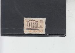 ARGENTINA  1962 - Yvert  A 84 - UNESCO - Argentina