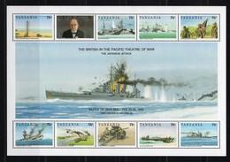 TANZANIA - 1992 History Of World War II - The British In The Pacific Battlefield  M555 - Tanzanie (1964-...)