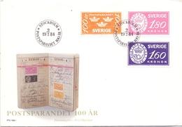 SVERIGE   FDC STOCKHOLM POSTSPARANDET  COVER   (DICE180101) - FDC