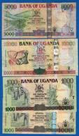 Uganda  4  Billets - Ouganda