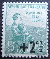 R1606/78 - 1922 - AU PROFIT DES ORPHELINS DE LA GUERRE - N°163 (*) - France