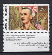 MARSHALL ISLANDS - 1992 History Of The Second World War - Fall Of Corregidor To Japan, 1942  M557 - Marshall