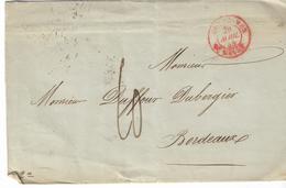 LSC De 1845 - Ecrite à La Nouvelle Orléans (ETATS UNIS) - Càd Outremer - Taxe - à La FRANCE - Etats-Unis