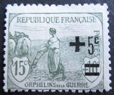 R1606/79 - 1922 - AU PROFIT DES ORPHELINS DE LA GUERRE - N°164 (*) - France