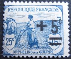 R1606/80 - 1922 - AU PROFIT DES ORPHELINS DE LA GUERRE - N°165 NEUF* - France