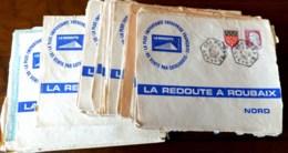 LOT DE 55 LETTRES ANNÉES 1960 AVEC CACHETS HEXAGONAUX POINTILLÉS- AGENCE POSTALE RURALE- 3 SCANS - Marcophilie (Lettres)