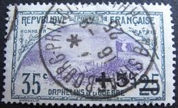 R1606/81 - 1922 - AU PROFIT DES ORPHELINS DE LA GUERRE - N°166 ☉ - Cote : 16,50 € - Frankreich