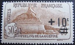 R1606/82 - 1922 - AU PROFIT DES ORPHELINS DE LA GUERRE - N°167 (*) - Cote : 27,00 € - France