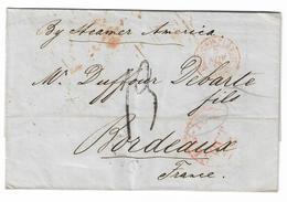 LSC écrite à New York (ETATS UNIS) - à Dest. Bordeaux (FRANCE) - Nov. 1852 - Etats-Unis