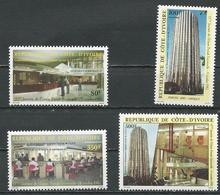 COTE IVOIRE Scott 657-660 Yvert 637-640 (4) ** Cote 11,00 $ 1982 - Côte D'Ivoire (1960-...)
